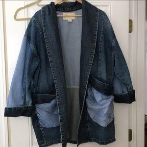 Denim Dress Oversized Jacket from Anthropology